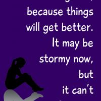Printable It Can't Rain Forever - Printable Motivational Quotes - Free Printable Quotes