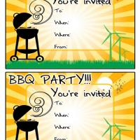 Printable It's a Backyard BBQ Party - Printable Party Invitation Cards - Free Printable Invitations