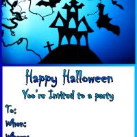 Printable It's a Blue Halloween - Printable Party Invitation Cards - Free Printable Invitations