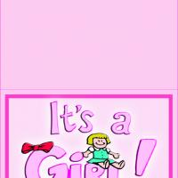 Printable It's A Girl Announcements - Printable Baby Cards - Free Printable Cards
