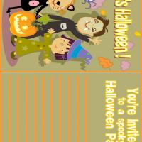 Printable It's a Halloween Costume Party - Printable Party Invitation Cards - Free Printable Invitations