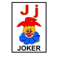 J is for Joker Flash Card