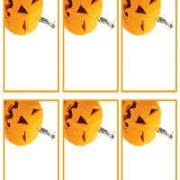 Jack-O-Lantern Name Tags