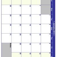 January 2013 Planner Calendar