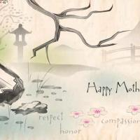 Printable Japanese Themed Postcard - Printable Mothers Day Cards - Free Printable Cards
