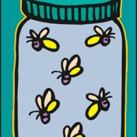 Jar of Fireflies Bookmark