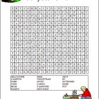 Printable Jellystone Park Word Search - Printable Word Search - Free Printable Games