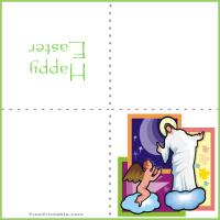 Printable Jesus Easter Mini Card - Printable Easter Cards - Free Printable Cards