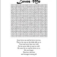 Printable Jesus Loves Me Word Search - Printable Word Search - Free Printable Games