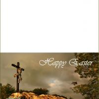 Printable Jesus on the Cross Easter Card - Printable Easter Cards - Free Printable Cards