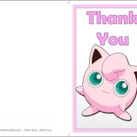 Printable Jigglypuff Thank You Card - Printable Thank You Cards - Free Printable Cards