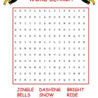 Printable Jingle Bells Word Search - Printable Word Search - Free Printable Games