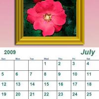 Printable July 2009 Oil Painting Calendar - Printable Monthly Calendars - Free Printable Calendars
