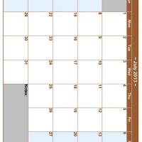 July 2013 Planner Calendar