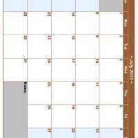 July 2013 Planner Calendar