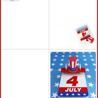 Printable July 4 Card - Printable Greeting Cards - Free Printable Cards