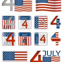 Printable July 4 Sickers - Printable Scrapbook - Free Printable Crafts