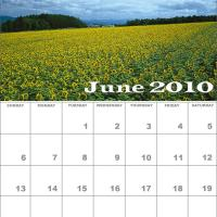Printable June 2010 Nature Calendar - Printable Monthly Calendars - Free Printable Calendars