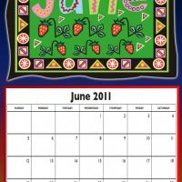 June 2011 Colorful Designed Calendar