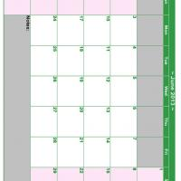 June 2013 Planner Calendar