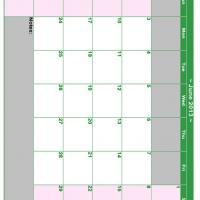 June 2013 Planner Calendar