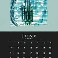 June Music Theme Calendar