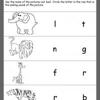 Printable Jungle Theme Ending Consonants Review - Printable Kindergarten Worksheets and Lessons - Free Printable Worksheets