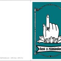 Printable Just A Reminder - Printable Greeting Cards - Free Printable Cards