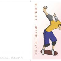 Printable Just For You Skateboarder Birthday Card - Printable Birthday Cards - Free Printable Cards