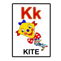 Printable K is for Kite Flash Card - Printable Flash Cards - Free Printable Lessons