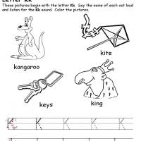 Printable K Beginning Consonant - Printable Preschool Worksheets - Free Printable Worksheets