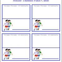 Kid Playing Soccer Place Cards
