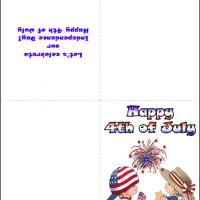 Printable Kids 4th OF July Card - Printable Greeting Cards - Free Printable Cards
