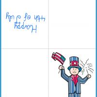 Printable Kids 4th of July Costume - Printable Greeting Cards - Free Printable Cards