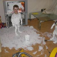 Kids Covered in Paint