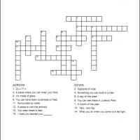Printable Kids Crossword 2 - Printable Crosswords - Free Printable Games