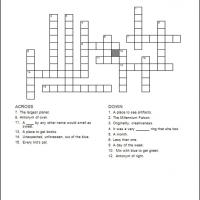 Printable Kids Crossword 4 - Printable Crosswords - Free Printable Games
