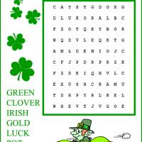 Kids Easy St. Patrick's Day Word Search
