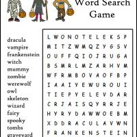 Kids Halloween Word Search Game