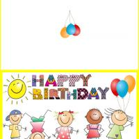 Printable Kids Happy Birthday Greeting - Printable Birthday Cards - Free Printable Cards
