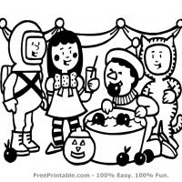 Printable Kids in Halloween Costumes - Printable Coloring Sheets - Free Printable Coloring Pages