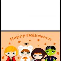 Printable Kids in Halloween Costumes - Printable Greeting Cards - Free Printable Cards