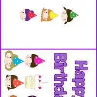 Printable Kids in Party Hats - Printable Birthday Cards - Free Printable Cards