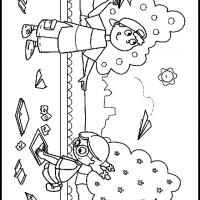 Printable Kids Making Paper Airplanes - Printable Coloring Sheets - Free Printable Coloring Pages