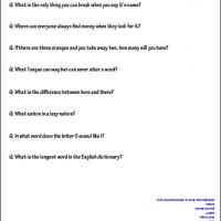 Printable Kids Riddles - Printable Kids Worksheets - Free Printable Worksheets
