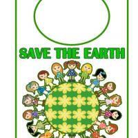 Printable Kids Save the Earth Door Hanger - Printable Fun - Free Printable Activities