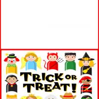 Printable Kids Trick or Treat Card - Printable Greeting Cards - Free Printable Cards