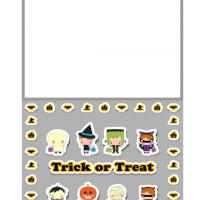 Printable Kids Trick or Treat Greeting Card - Printable Greeting Cards - Free Printable Cards