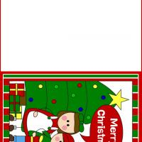 Printable Kids Wishing Merry Christmas - Printable Christmas Cards - Free Printable Cards