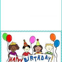 Kids with Birthday Greeting Banner